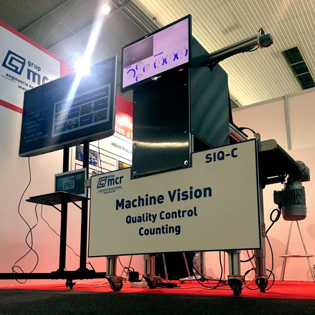 imagen stand Machine Vision de MCR en la feria Hispack Barcelona 2018